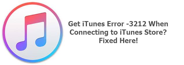 iTunes error -3212