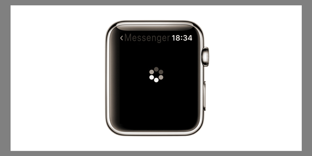 messenger not loading on apple watch