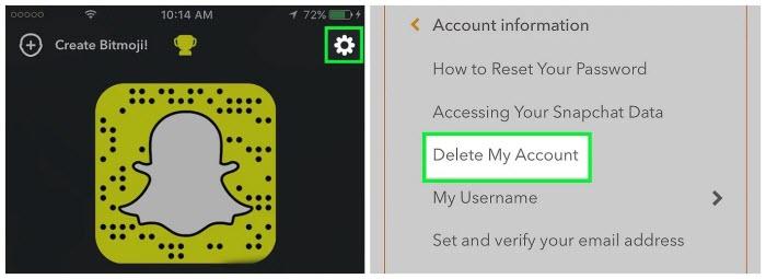 Delete-Snapchat-Account-on-Snapchat-App