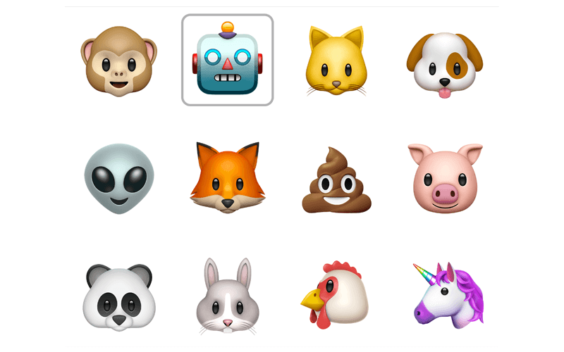 the animoji in iOS 11.2
