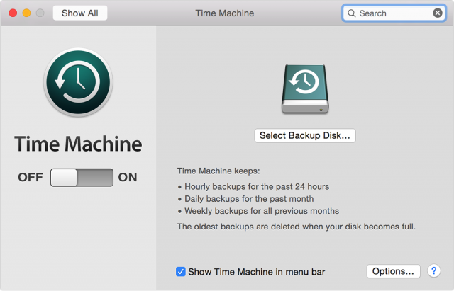 backup mac on time machine