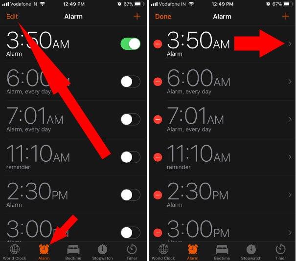 change iphone alarm sound