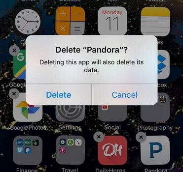 delete pandora