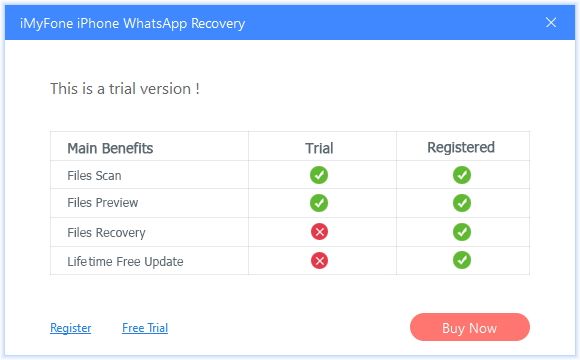 iPhone WhatsApp Recovery