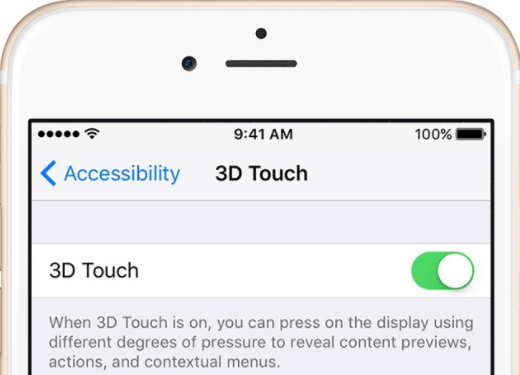 enable 3d touch