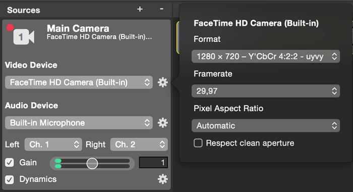 facetime built in camera