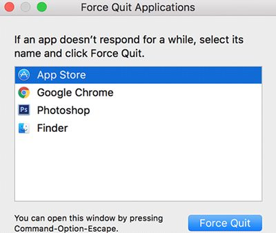 force quite app store on mac