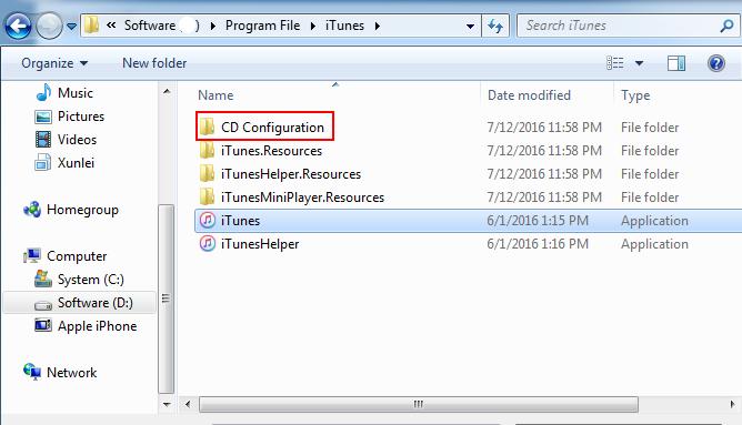 iTunes-CD-Configuration-Folder