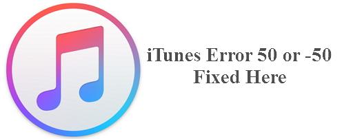 iTunes error 50