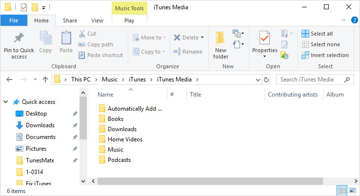 permission to change itunes media folder