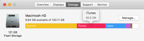 iTunes space