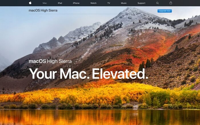 mac os high sierra update