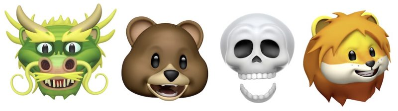 the new animoji in iOS 11.3