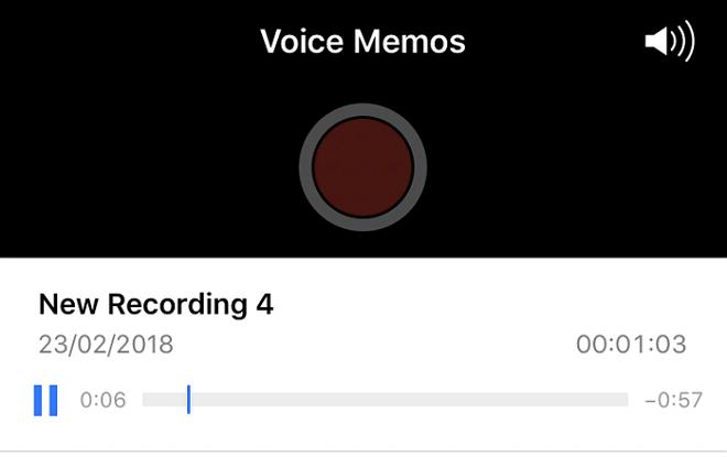 play voice memo