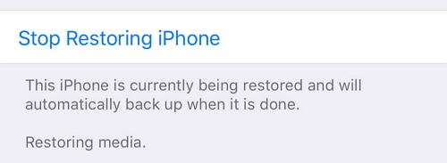 "iPhone stuck on ""Restoring Media"""