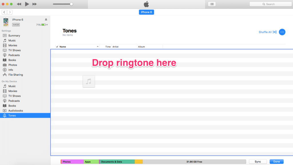 How do i put ringtones on my iphone from itunes