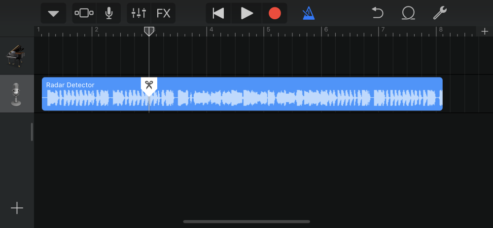 trim and split song