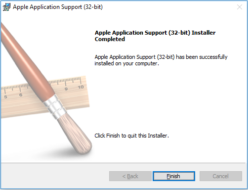 Apple-Application-Support-Installer-Completed