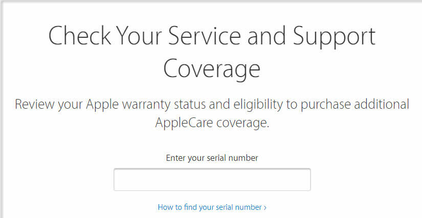 Apple's Warranty Coverage Checker
