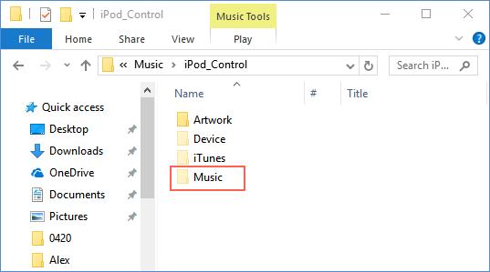 iPod music folder