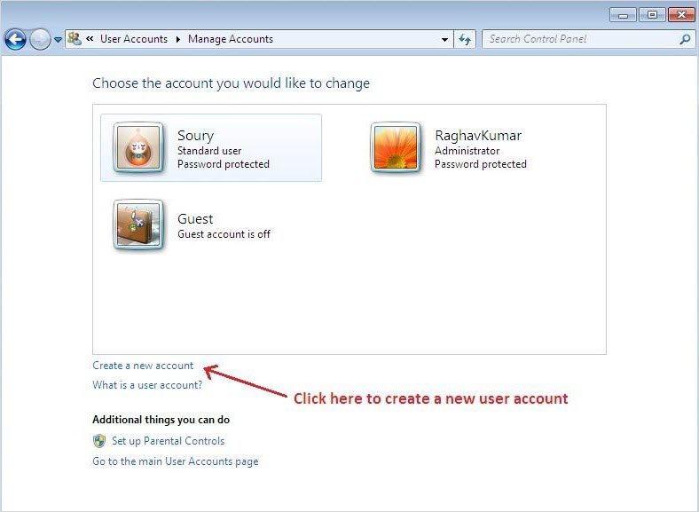 Create a New User Account