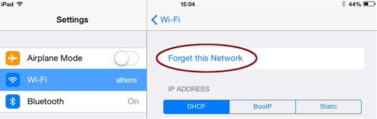 forget-wifi-network