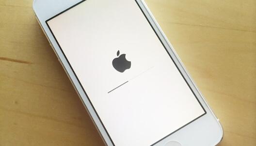 iphone stuck on apple logo with progress bar