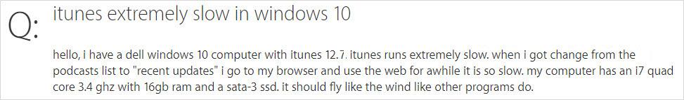 iTunes running slow