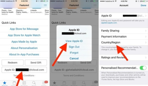 sign out of and sign into apple id