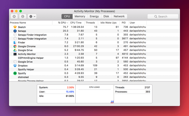 speed up cpu on mac