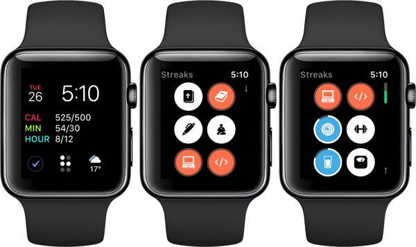 streaks for apple watch