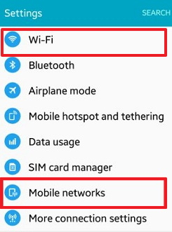 Turning off Network Connections on android