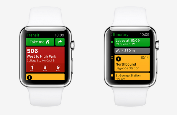 transit apple watch app