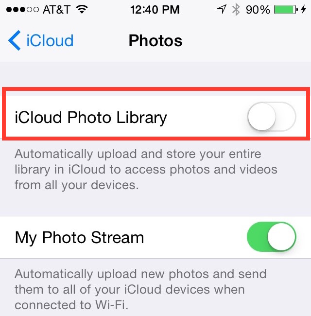 If You Don't Turn on iCloud Photos