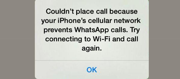 whatsapp not placing calls