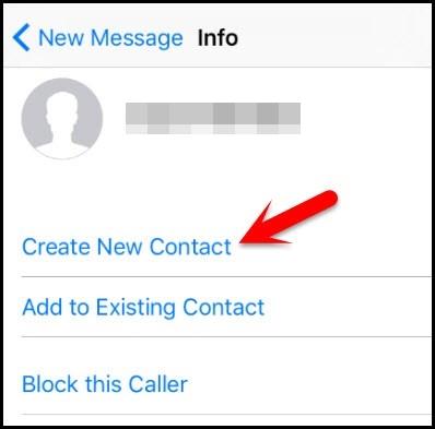 créer le nouveau contact