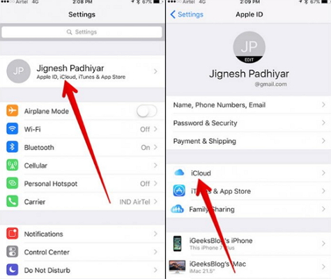 Disable and Enable iCloud  Syncing