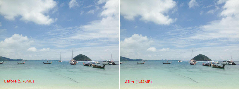 how to make iphone photos smaller