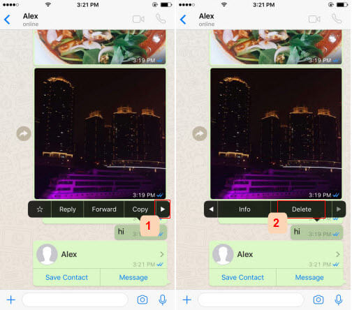 delete message whatsapp