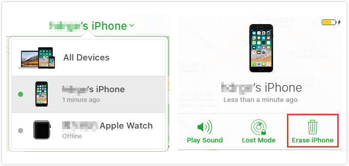 Use Find My iPhone through iCloud