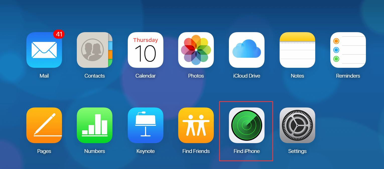 erase iPod via icloud