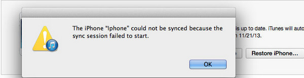 Sync sessions failed to start