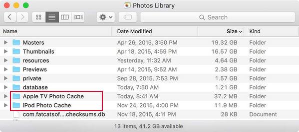iPod photo cache