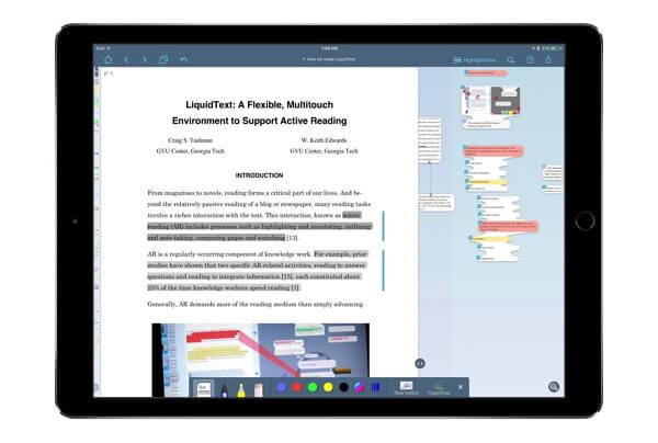 best apple pencil app liquidtext