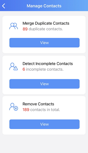 manage contacts on iPhone