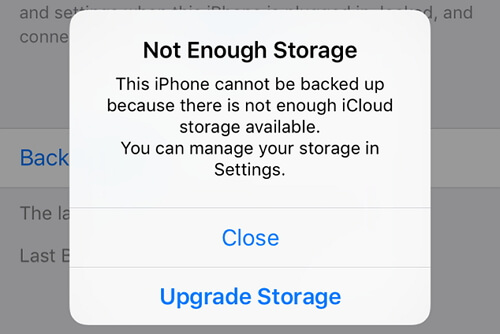 iCloud has not enough storage