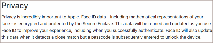 Face ID security