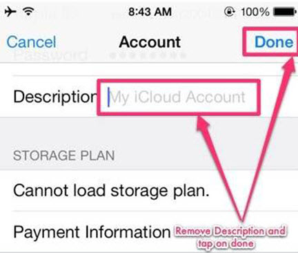 Remove iCloud step 3