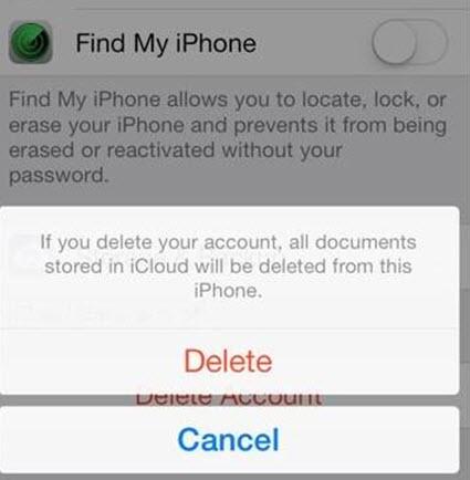 Remove iCloud step 5