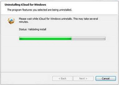 delete icloud form windows